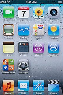 Apple iPod touch 4G : Menu principal