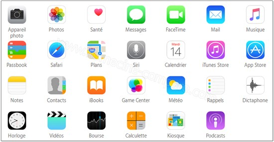 Apple iPod touch 6G 128 Go Rose : Apps intégrées