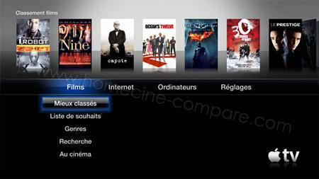 Apple TV 2G : Menu principal