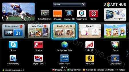 Samsung Smart Hub : Présentation photo