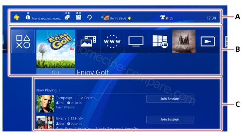 Sony PS4 Slim 500 Go : Menu d'accueil