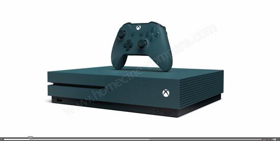Animation 3D de la Xbox One S Deep Blue