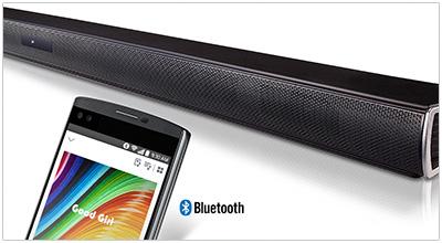 Illustration d'une barre de son compatible Bluetooth - crédit : LG