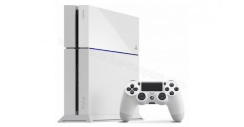 sony ps4 blanche playstation 4 blanc 500 go fiche. Black Bedroom Furniture Sets. Home Design Ideas