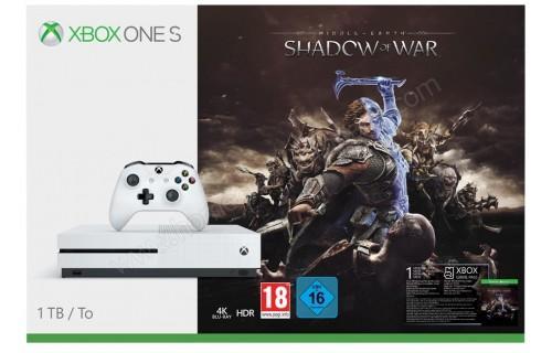 MICROSOFT Xbox One S 1 To Shadow of War