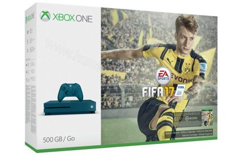 MICROSOFT Xbox One S Deep Blue 500 Go FIFA 17