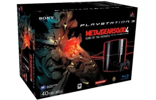 SONY PS3 40 Go Metal Gear Solid 4
