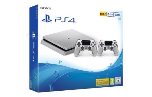 SONY PS4 Slim Argent 500 Go Imports EU, fiche technique..