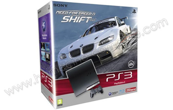 SONY PS3 Slim 250 Go Need for Speed Shift