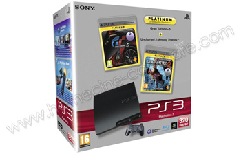 SONY PS3 Slim 320 Go GT5 Uncharted 2