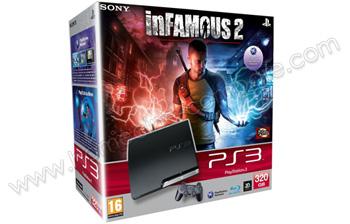 SONY PS3 Slim 320 Go inFamous 2