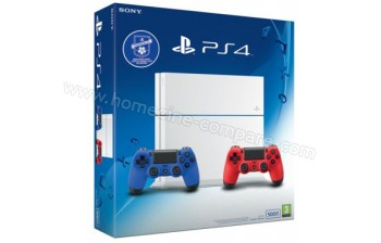 sony ps4 blanche 2 manettes fiche technique prix et avis. Black Bedroom Furniture Sets. Home Design Ideas