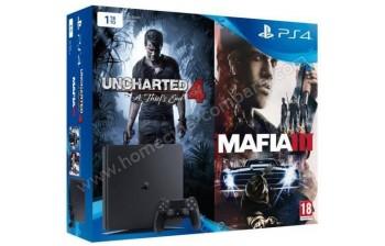 SONY PS4 Slim 1 To U4 Mafia III